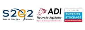 Logos S2E2, ADI, Cluster Energies-Stockage en Nouvelle-Aquitaine