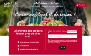 Plateforme solidaire des produits locaux en Nouvelle-Aquitaine