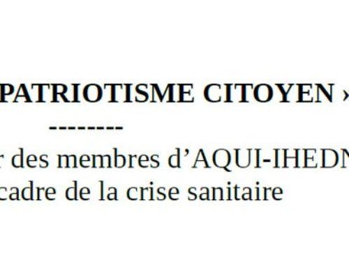 Programme « PATRIOTISME CITOYEN » : valoriser les entreprises impliquées dans les réponses apportées à la crise sanitaire