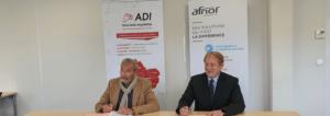 Signature de la convention ADI N-A - AFNOR