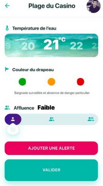 MaPlage.info - écran 3