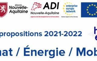 Enquete AAP européens Energie Climat Mobilité